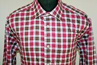 David Donahue Mens Long Sleeve Button Front Shirt Size sz XL X-Large Plaid
