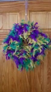 20 inch PGG Feather Mardi Gras Wreath