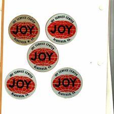 New listing Nice Rare Old Set Of 5 Bluefield W.Va & Va.Joy Globes Coal Mining Stickers # 510