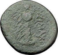 LYSIMACHOS Thrace King 305BC Lampsakos Ancient Greek Coin ATHENA TROPHY i61477