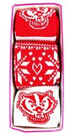 VS Pink Wisconsin Badgers Holiday Collection 3 Pair Pack - Brand New