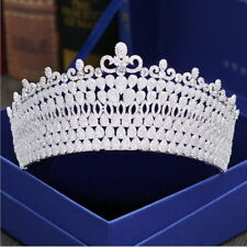 AAAAA CZ Cubic Zirconia Adult Wedding Bridal Party Pageant Prom Tiara Crown