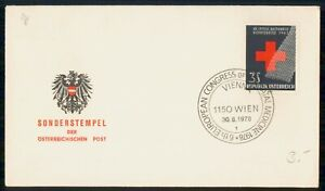 MayfairStamps Austria 1978 Red Cross Conference Organization Cover wwk70649