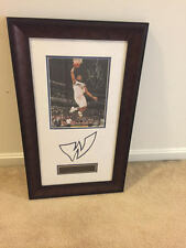 Framed Autographed Nick Young Wizards #1 Photo w/ Authentication Letter