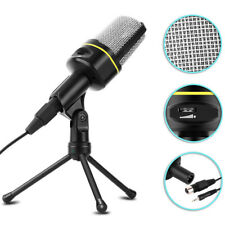 Microphone With Mini Tripod Stand Audio Recording For Computer PC Phone Desktop