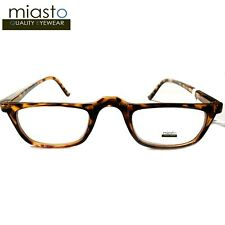 NWT$39.99 MIASTO RECTANGLE HALF FRAME 1/2 READER READING GLASSES+2.75 BROWN FLEX