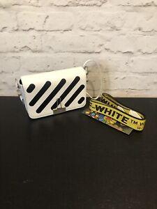 Off White Crossbody Binder Clip Bag