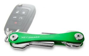 KeySmart Classic -Compact Key Holder And Keychain Organizer Up To 8 Keys, Green