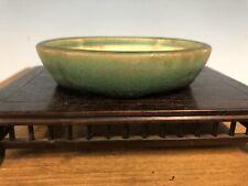 """Beautiful Green Glazed Shohin Size Bonsai Tree Pot By Haruyoshi 4"""""""