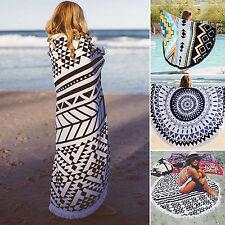 Mandala Indian Tapestry Boho Camping Beach Yoga Round Mat Towel Blankets Hiking