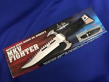 Gil Hibben Autographed Limited Edition MKV Fighter Combat Knife And Sheath