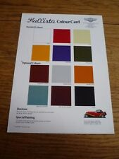 PANTHER KALLISTA EXTERIOR COLOURS CARD TYPE 'SALES BROCHURE' A5 SIZED SHEET
