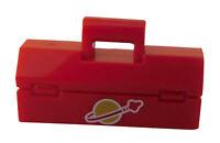 Lego Werkzeugkasten in rot Classic Space Aufdruck Kasten Box für Minifigur Neu