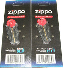 2 PACKS OF ORIGINAL GENUINE ZIPPO FLINTS - 12 FLINTS - FITS ALL ZIPPO LIGHTERS