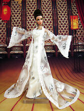 Eaki White Coat Outfit Gown Evening Dress Silkstone Barbie Fashion Royalty FR
