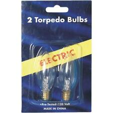 120 Pk Clear 7W Torpedo Christmas Electric Candle Replacement Bulb @ 2/Pk 1406-2
