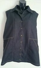 Ladies size 14-16 dark blue denim vest