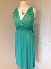 Señoras hermosas por Una Vestido, 12 L de largo, verde, Imperio, traje de Long Tall Sally