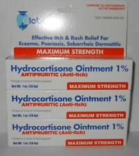 3 Tubes of Hydrocortisone Ointment 1% 1oz Anti-Itch (Compare to Cortizone-10)