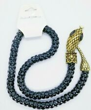 Cool Egyptian Cleopatra Snake Serpent Mesh Chain Necklace