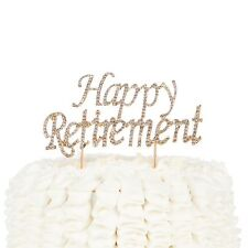 Happy Retirement Cake Topper - Party Supplies and Decoration Ideas Gold Retire
