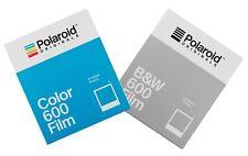 Película instantánea Imposible Para Cámaras Polaroid 600, color 1pk + 1pk Negro Y Blanco