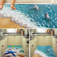 Removable 3D Sea Beach Floor Wall Sticker Mural Decals Vinyl Art Home Room Decor