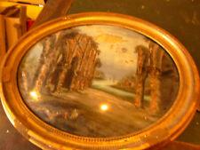 peinture sur vitre cadre oval 1850