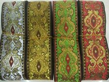Handmade Woven jacquard ribbons 2 inch wide = selling by the yard