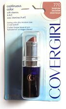 COVERGIRL Continuous Color Lipstick 770 Bronzed Glow Carded