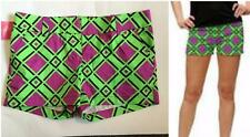Loudmouth Ladies Golf Mini Shorts DogWood NWT Sz 6 New Green Black Hot Pink