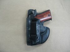 Browning 1911 22 / 380 IWB Molded Leather Concealed Carry Holster CCW BLACK LH