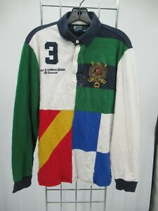 I9294 VTG Polo Ralph Lauren Men's 1/4 Button Polo Shirt Size M
