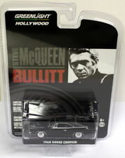 Greenlight 1/64 Scale 1968 Dodge Charger Black Steve McQueen Bullitt Model Car