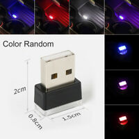 Mini USB LED Car Interior Atmosphere Light Ambient Decor Neon Lamp Accessories