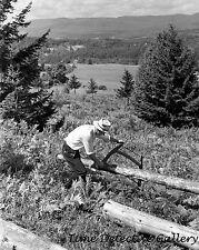 Sawing Pulpwood on Kinney's Farm, Eden Mills, Vermont-1937-Historic Photo Print