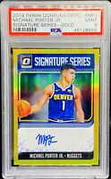 Michael Porter Jr 2018-19 Optic Signature Series GOLD Auto RC /10 PSA 9 POP 1