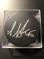 Aaron Asham Autographed Puck Devils Rangers Penguins Islanders Flyers