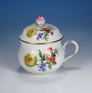 "Meissen "" Flower 3 Cup With Lid 1.Wahl"