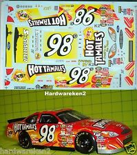 NASCAR DECAL #98 HOT TAMALES 2001 BGN FORD TAURUS ELTON SAWYER SLIXX
