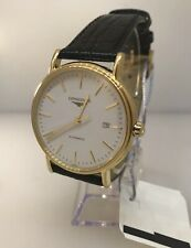 Longines Presence Automatic Stainless Steel Gold Plated Mens Watch L49212182 New