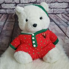 VINTAGE 1990 DAYTON HUDSON CHRISTMAS TEDDY SANTA BEAR STUFFED ANIMAL PLUSH TOY