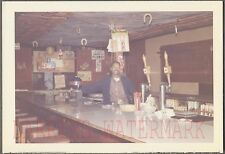 Vintage Snapshot Photo Black Man Bartender in Lucky Horseshoe Bar 728975