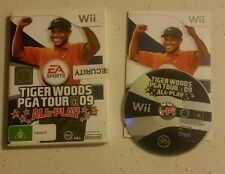 Tiger Woods PGA Tour 09 All Play Game for Nintendo Wii - Complete - Free Post!
