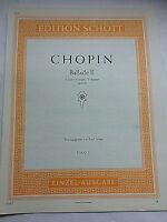 Chopin ~ Ballade II in F-Dur , Op. 38, herausgegeben von Emil Sauer
