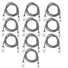 10X 3FT Micro USB Data Adapter Charging Charger Cable For Andriod Samsung Black
