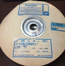Scotchflex 3405 24 AWG 28 Conductor Stranded Flat Cable UL 2651 100'