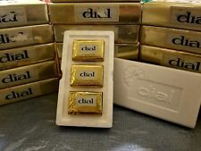 Vtg 70's 3 pack Dial Deodorant Beauty Bar Soap Gold Foil Package Box 3.5  Ounces