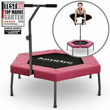 Kinetic Sports Mini-Trampolin Fitness Hexagon Sechseckig mit Griff Indoor PINK