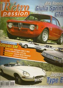 RETRO PASSION 214 ALFA GIULIA SPRINT GTA SALMSON 2300 S CITROEN SM JAGUAR TYPE E